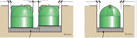 Instalar tuberias en pendiente un deposito de agua bajo tierra subterraneo